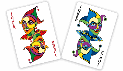 Red and Blue Joker by Abolina Art